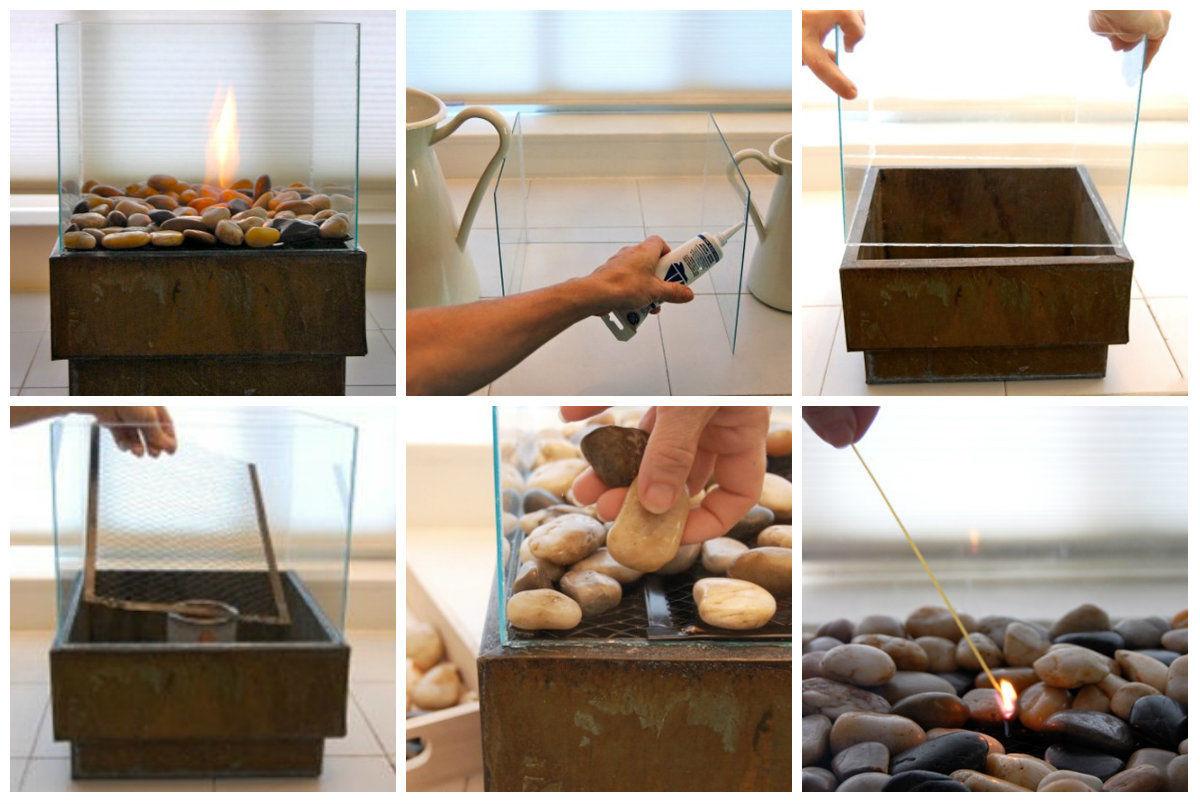Как сделать настольный биокамин своими руками