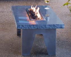 Каменный стол с мини камином