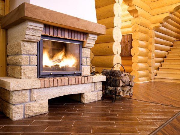 Постройка камина в деревянном доме