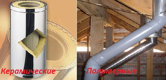 Керамический и полимерный дымоходы