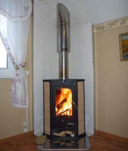 Отопительная печь Бавария угловая + дымоход