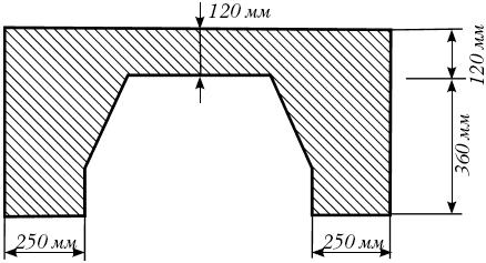 Сечение камина в плане на уровне топки