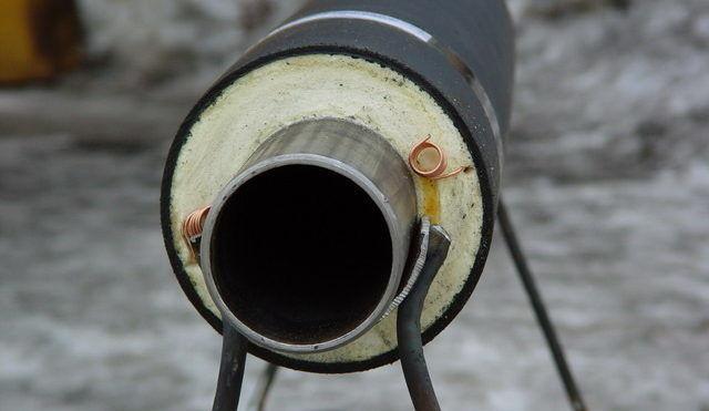 Стальная труба с термоизоляцией