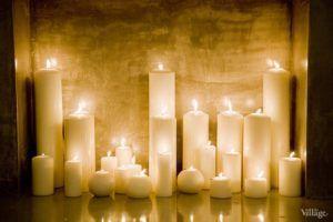 Свечи в топке фальшкамина