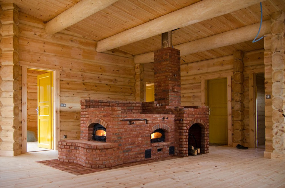 Центральная печь для дома из кирпича