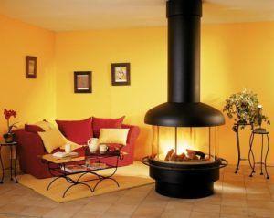 Тёплый интерьер гостинной