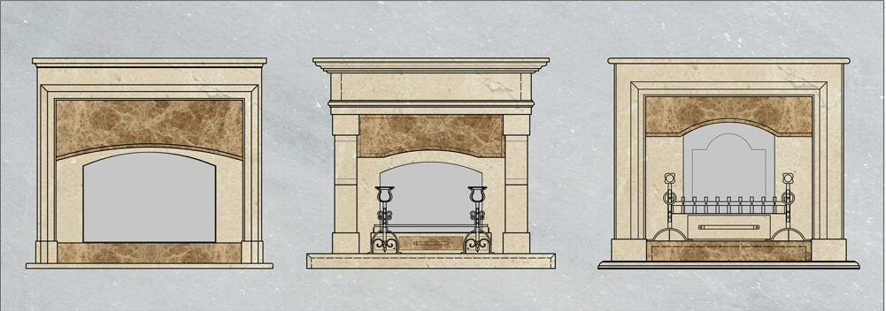 Варианты облицовки мраморных порталов