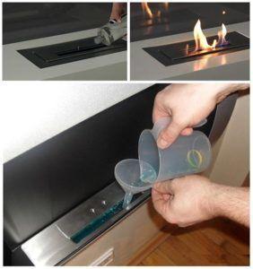 Внешний вид пламени, получаемого при горении биотоплива, практически не отличается от вида горящих поленьев