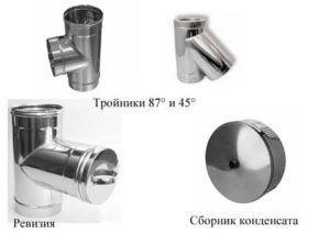 Элементы дымохода из нержавеющей стали