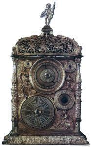 каминные часы два циферблата