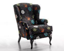 миниатюра кресло с ушами(каминное)