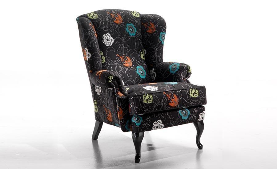 Кресло с ушами (каминное) в современном интерьере