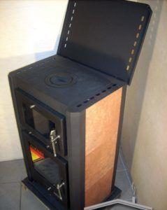 печь-камин «Бавария» с плитой и духовым шкафом