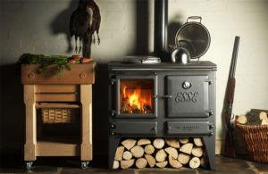 Чугунная дровяная печь