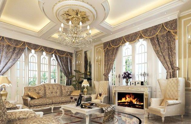 Каминный зал в классическом стиле