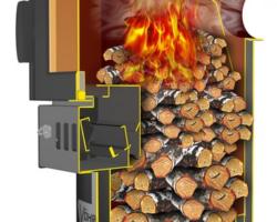 Печь-камин длительного горения