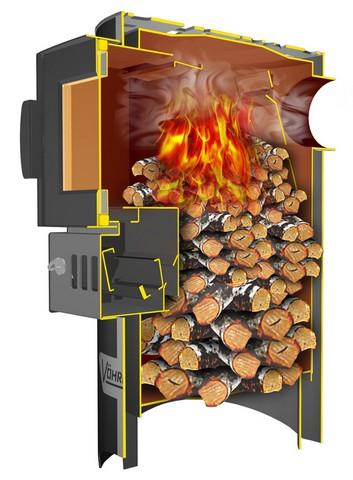 Выбор печей-каминов длительного горения для дачи