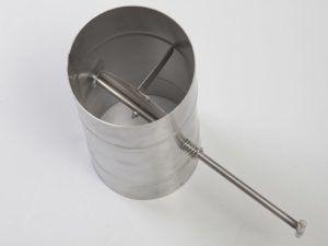 Поворотная заслонка-шибер для регулировки горения
