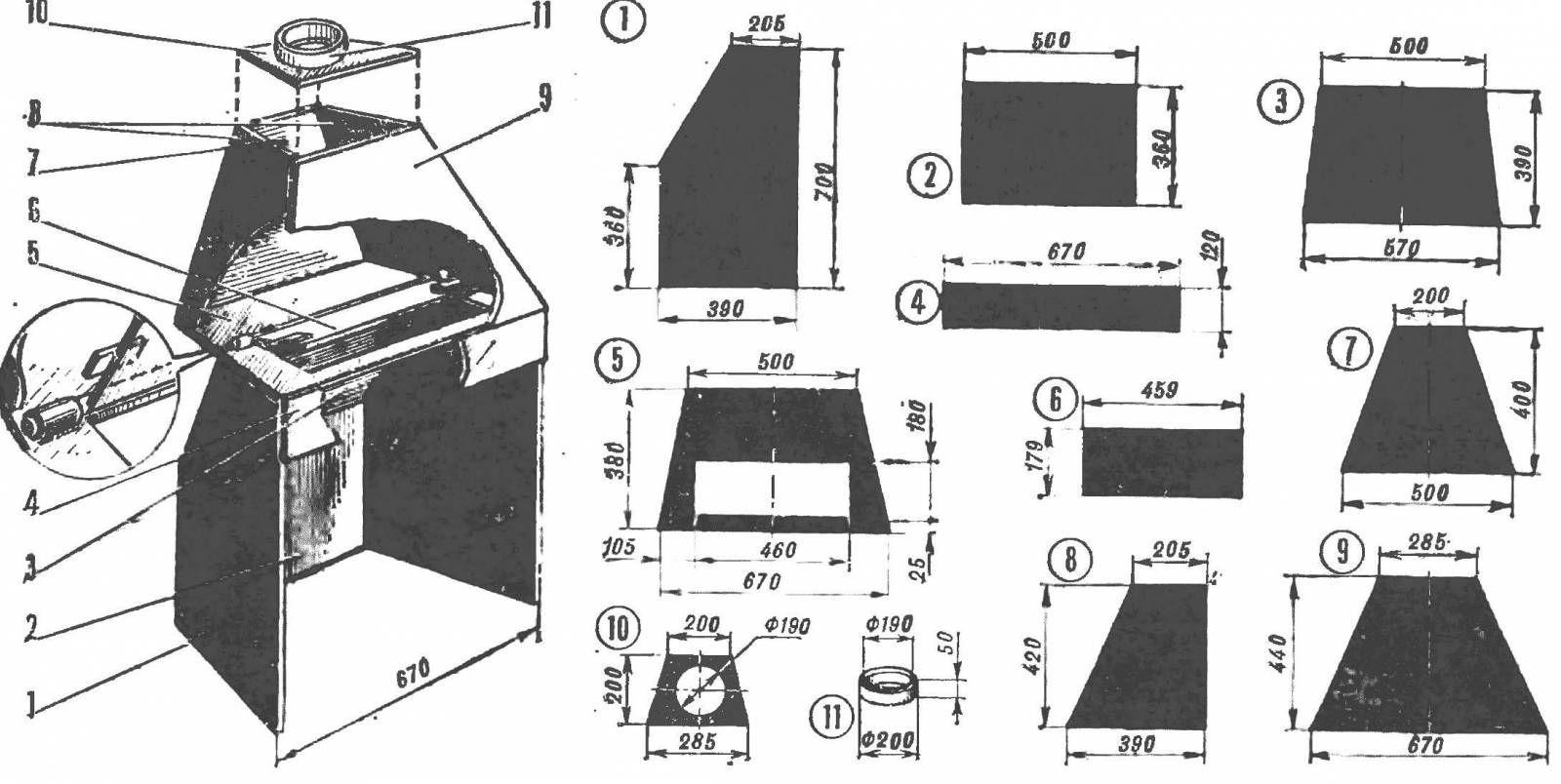 Схема изготовления самодельного металлического камина