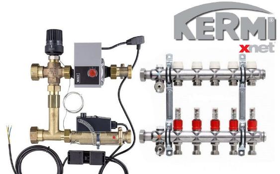 Cмесительный узел для теплого пола KERMI