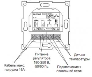 Конструкция терморегулятора для теплого пола