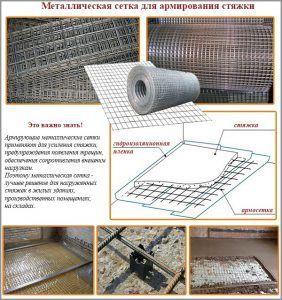 Металлическая сетка для армирования стяжки для теплого пола