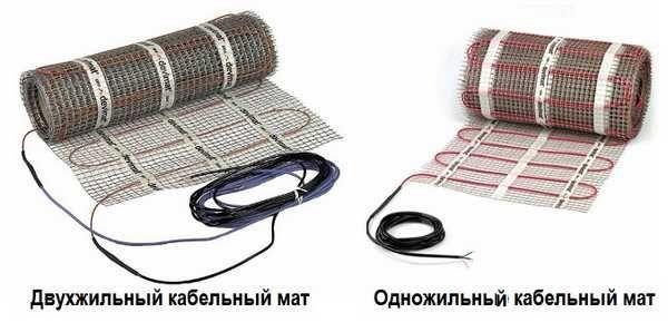 Нагревательные маты из кабеля