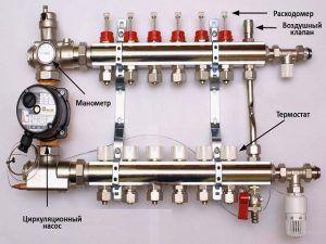 Описание устройства коллектора для теплого пола