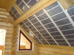 Пленочный теплый пол Калео можно применять не только на полу,но и на потолке