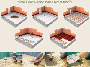 Процесс монтажа электрического теплого пола под плитку