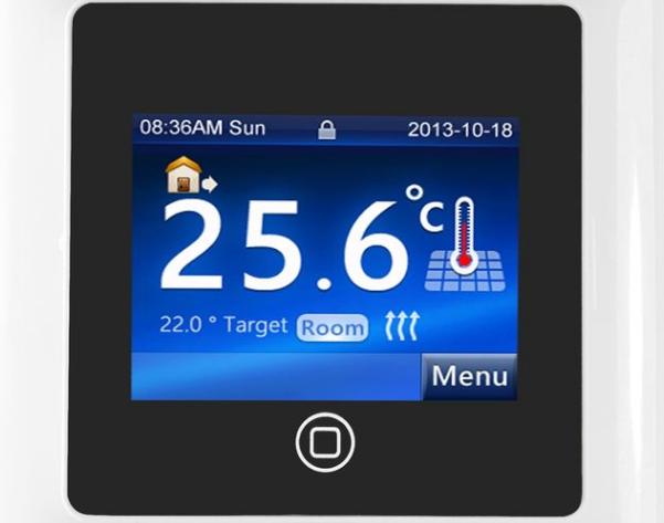 Сенсорный регулятор для управления теплым полом