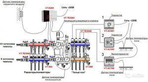 Схема подключения смесительного узла Valtec