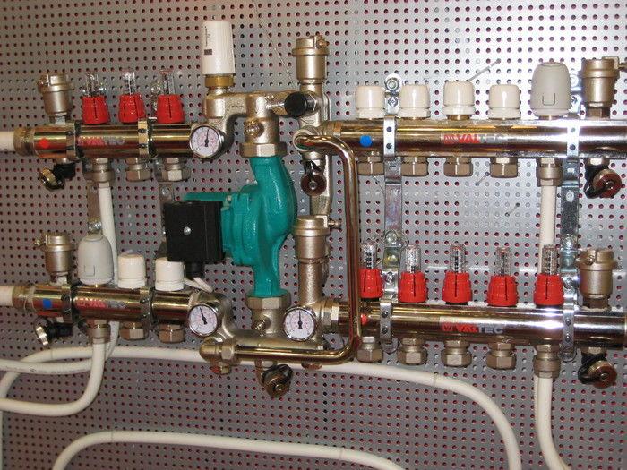 Смесительный узел для теплого водяного пола