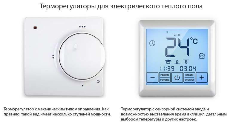 Терморегуляторы для электрического теплого пола