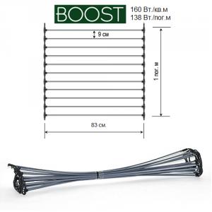 Схема стержневого теплого пола Unimat Boost