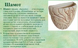 Шамотная глина - описание