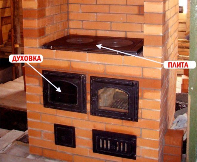 Установка духовки и варочной плиты