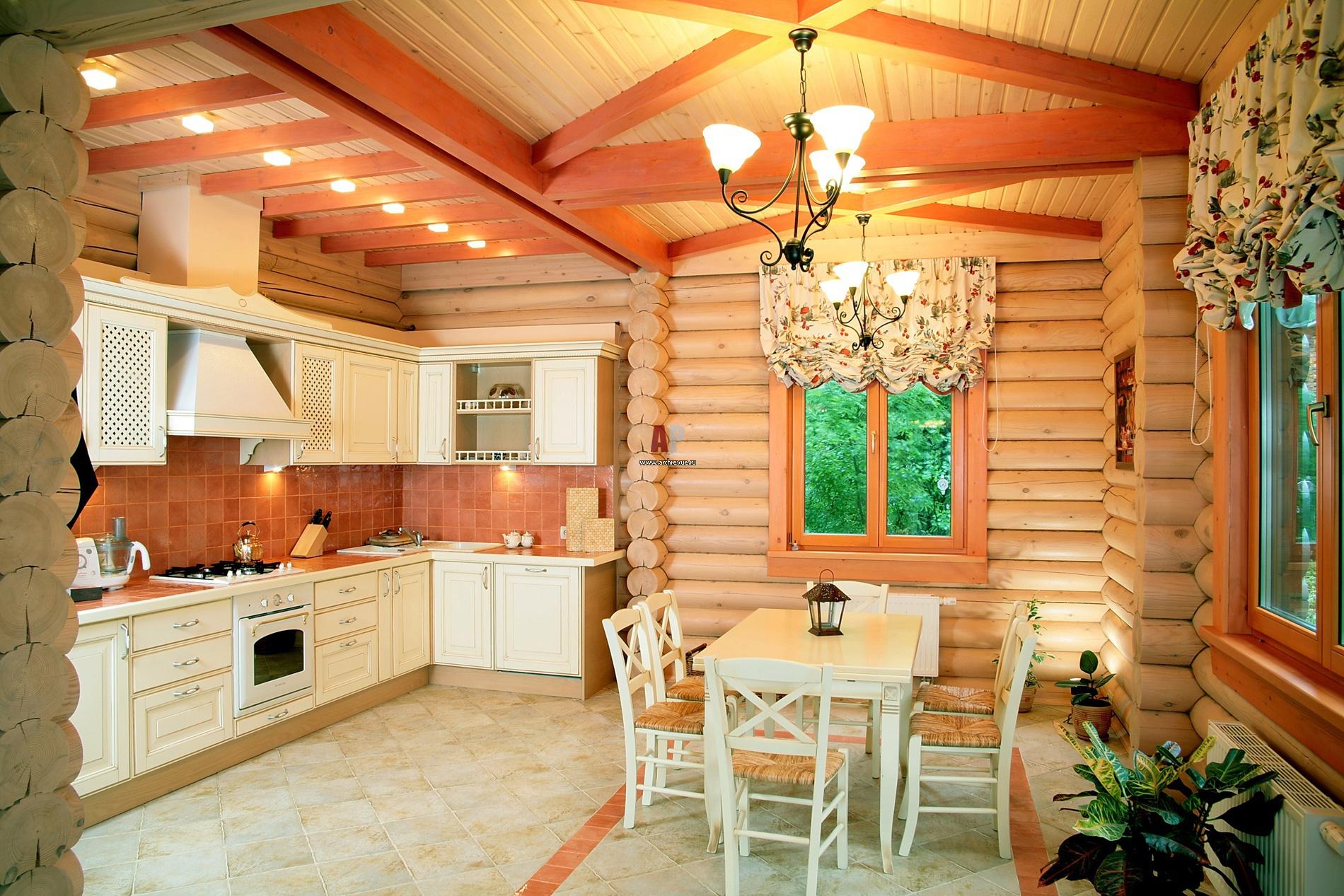 Как выбрать гарнитур для деревянных домов с камином