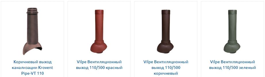разновидности кровельной вентиляции