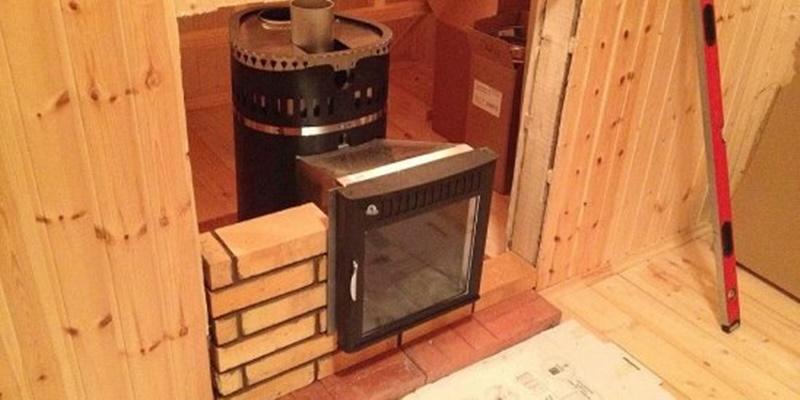 Как правильно установить банную печь с топкой