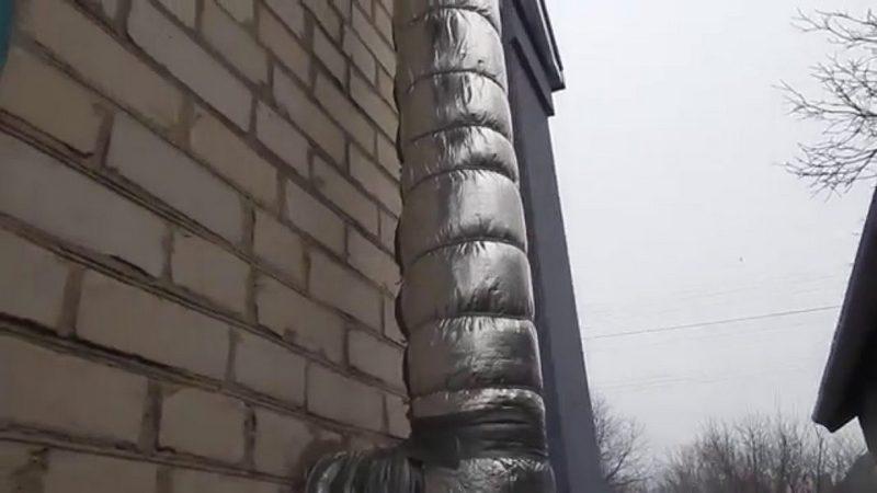 Чем теплоизолировать дымоход от газового котла своими руками
