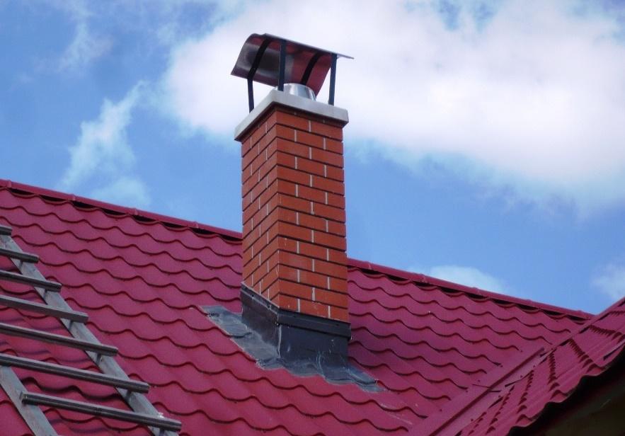Как обшить дымоход на крыше профнастилом и оцинковкой