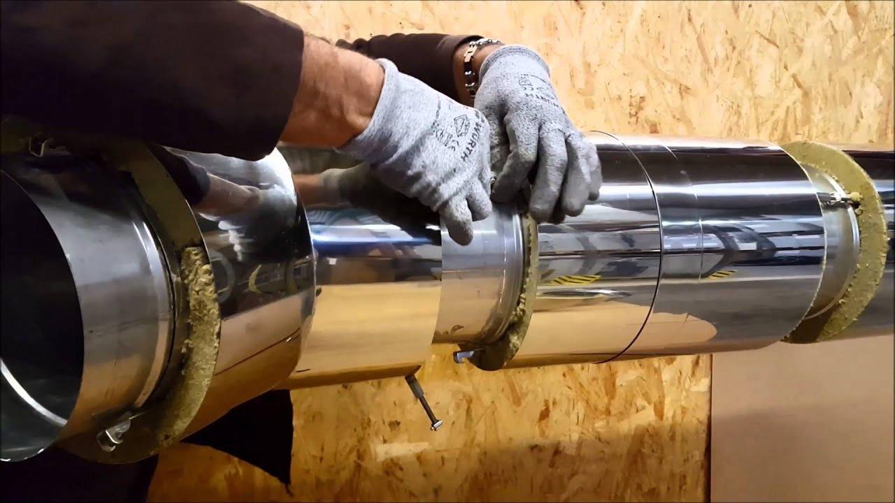 Пошаговая инструкция как сделать дымоход своими руками